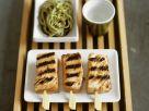 Lachsspieße vom Grill mit Nudeln Rezept
