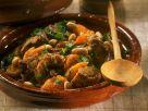 Lamm mit Aprikosen und Mandeln aus der Tajine Rezept