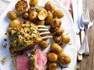 Lamm mit Kräuterkruste und Ofenkartoffeln Rezept