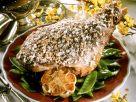 Lamm mit Mandelpralinen und Zuckerschoten zu Ostern Rezept