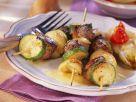Lamm-Zucchini-Spieße vom Grill mit gebratenem Chicorée Rezept