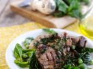 Lammchops mit Spinatsalat und Kräutersoße Rezept