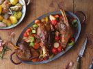 Lammhaxen mit Gemüse und Kartoffeln Rezept