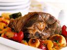 Lammkeule mit Paprika und Kartoffelplänzchen Rezept