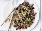 Lammschulter mit Trauben und geröstetem grünem Weizen (Freekeh) Rezept