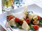 Lasagneblätter mit Cherrytomaten, Auberginen und Zucchini Rezept