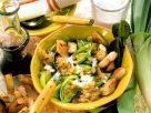 Lauch-Linsen-Eintopf mit Croutons Rezept