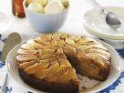 Lebkuchen-Tarte-Tatin mit Eis Rezept