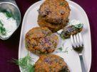 Lila Kartoffelküchlein mit Frischkäse Rezept