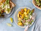Limetten-Kartoffeln mit Paksoi und Gurken-Salsa Rezept