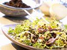 Linsen-Friséesalat mit Geflügelleber Rezept
