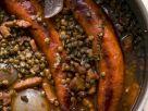 Linsen-Zwiebel-Gemüse mit Bratwurst Rezept