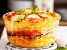 Makkaroni-Auflauf mit Aubergine, Käse und Tomate Rezept