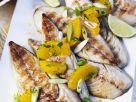 Makrelen vom Grill mit Orangen und Frühlingszwiebeln Rezept