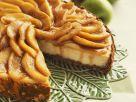 Mandel-Käsekuchen mit Apfelhaube Rezept