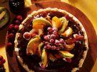 Mandelkuchen mit Schokolade und Obst Rezept