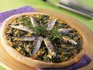 Mangold-Pizza mit Sardinenfilets Rezept
