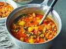 Marokkanische Gemüsesuppe mit Kichererbsen Rezept