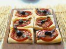 Mediterrane Blättergeig-Häppchen Rezept