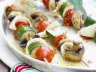 Mediterrane Grillspieße mit Gemüse Rezept