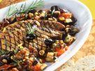 Mediterranes Gemüse mit gegrillter Leber Rezept