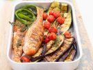 Meeräsche mit Gemüse vom Grill Rezept