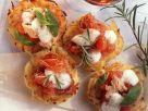 Mini-Kartoffelpizzen mit Fisch und Käse Rezept