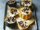 Minikürbisse mit Sahne und Pilzen gefüllt Rezept