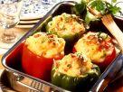 Mit Kartoffelpüree gefüllte Paprikaschoten Rezept