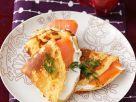 Mit Lachs gefüllte Pfannkuchen Rezept