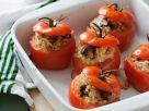 Mit Risotto gefüllte Tomaten Rezept