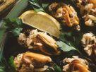 Muscheln mit Korinthen-Reis Rezept