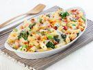Nudelgratin mit Gemüse und Schinken Rezept