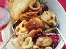 Nudeln mit Hähnchen und Radicchio Rezept