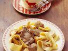 Nudeln mit Rehschnitzelchen Rezept