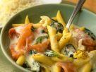 Nudeln mit Spinat und Lachs Rezept