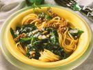Nudeln mit Spinat und Sahnesauce Rezept
