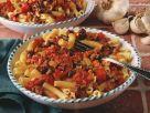 Nudeln mit Tomaten-Rinderhack-Soße Rezept