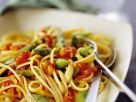 Nudeln mit Tomaten-Spargelsauce Rezept