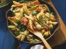 Nudelpfanne mit Schinken und Zucchini Rezept