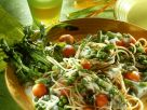Nudelsalat mit Gemüse und Sahnedressing Rezept
