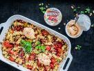 Nudelsalat mit mediterranem Gemüse, Granatapfelkernen und Walnüssen Rezept