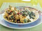 Nuss-Kartoffeln mit Spinat Rezept