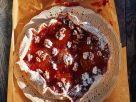 Nusstarte mit Aprikosen und Himbeermarmelade Rezept
