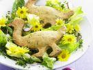 Österlicher Salat mit Gänse-Gebäck Rezept