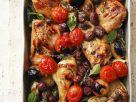 Ofen-Hähnchen mit Gemüse Rezept