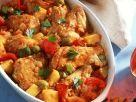Ofengebackenes Hähnchen mit Gemüse Rezept