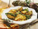 Ofenkartoffeln mit Artischocken und grünen Bohnen Rezept