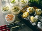 Ofenkartoffeln mit verschiedenen Saucen Rezept