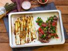 Ofenspargel mit Hüftsteak und Salsa Rezept